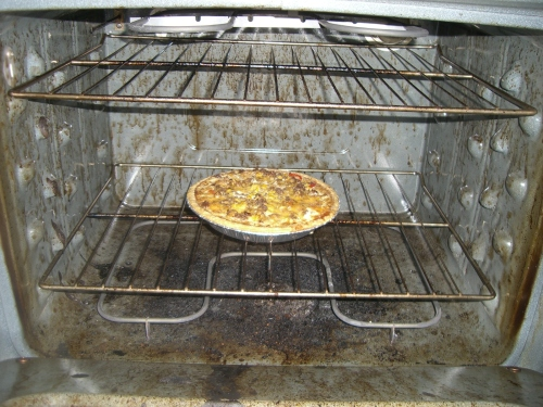 My Lovely Cheesey Quiche in DIRTY OVEN!!!